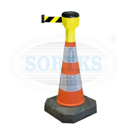 PREC75-TR10 Trafic cone 75cm with 10 m warning tape