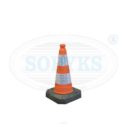 PREC50 Traffic cone coloured Height: 500 mm