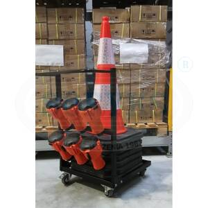 W-PC Trolley for six traffic cones with top